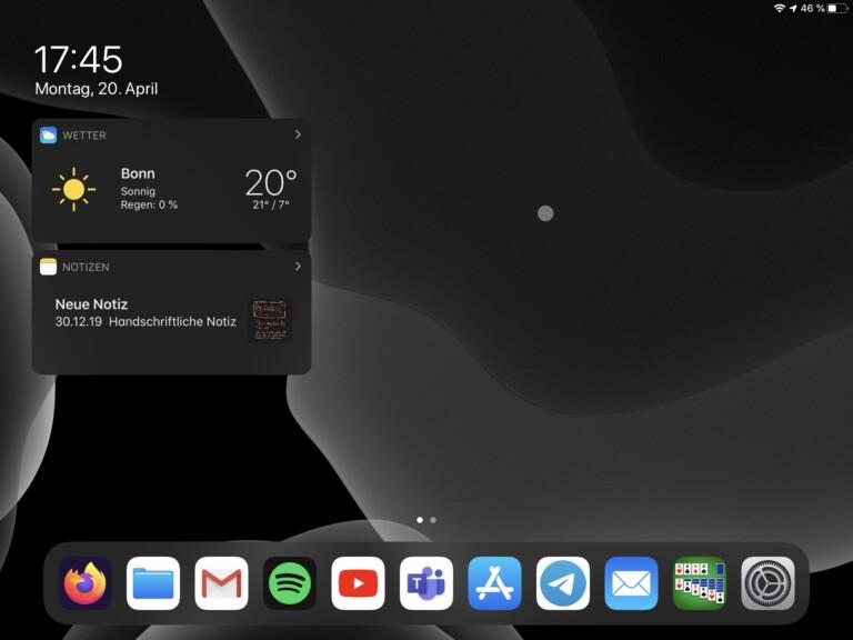 Ein kleiner Mauspunkt macht den Unterschied: iPadOS 13.4