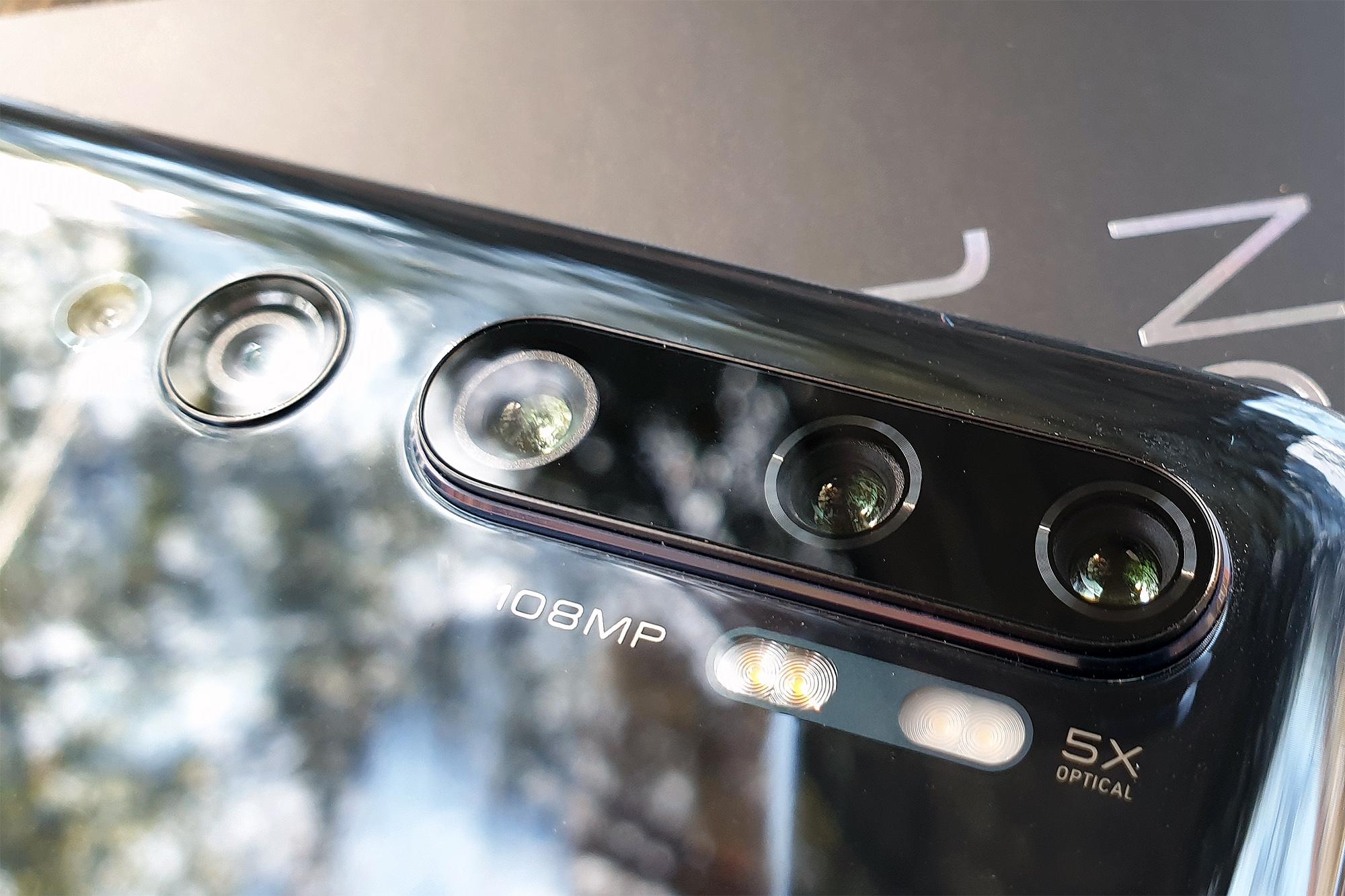 Kameras des Xiaomi Mi Note 10 Pro