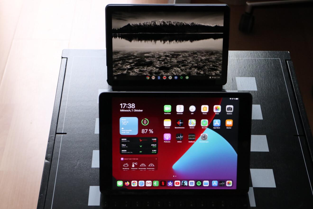 iPad 8 vs. Lenovo IdeaPad Duet Chromebook