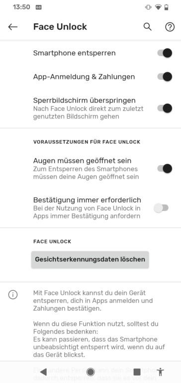 Nach sechs Monaten lieferte Google endlich ein Update für die korrekte Verwendung von Face Unlock nach. (Screenshot)