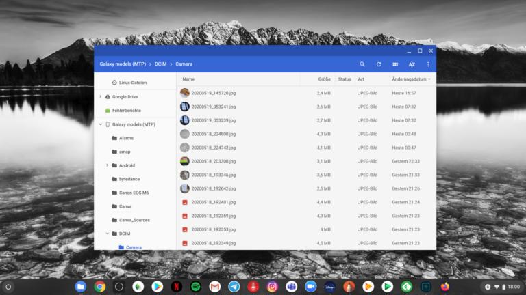 Zugang auf ein Android-Smartphone von Chrome OS aus ist (erwartungsgemäß) kein großes Problem.