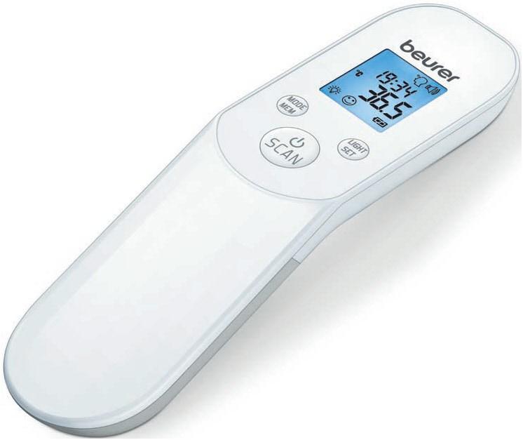 Besonders gefragt (und häufig ausverkauft) in Corona-Zeiten sind kontaktlose Fieberthermometer wie hier das Beurer FT85.
