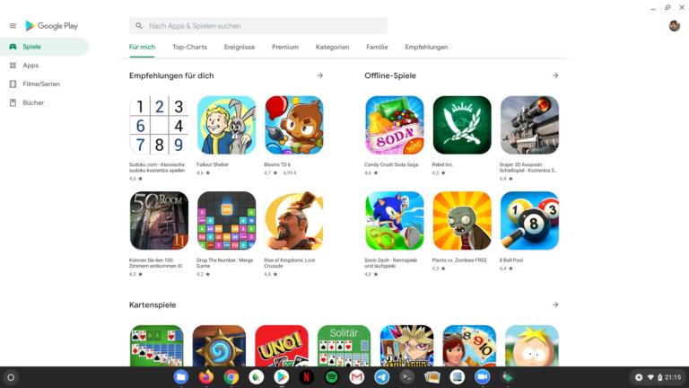 Google Play Store für Chrome OS: Android-Apps, und davon gibt es reichlich.