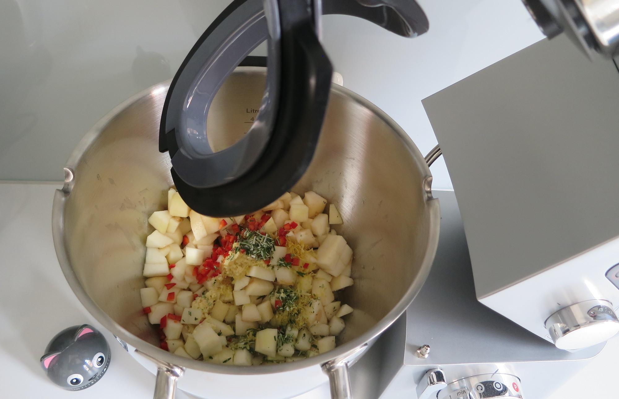 Zutaten für Birnen-Chutney in der Kenwood Cooking Chef Gourmet