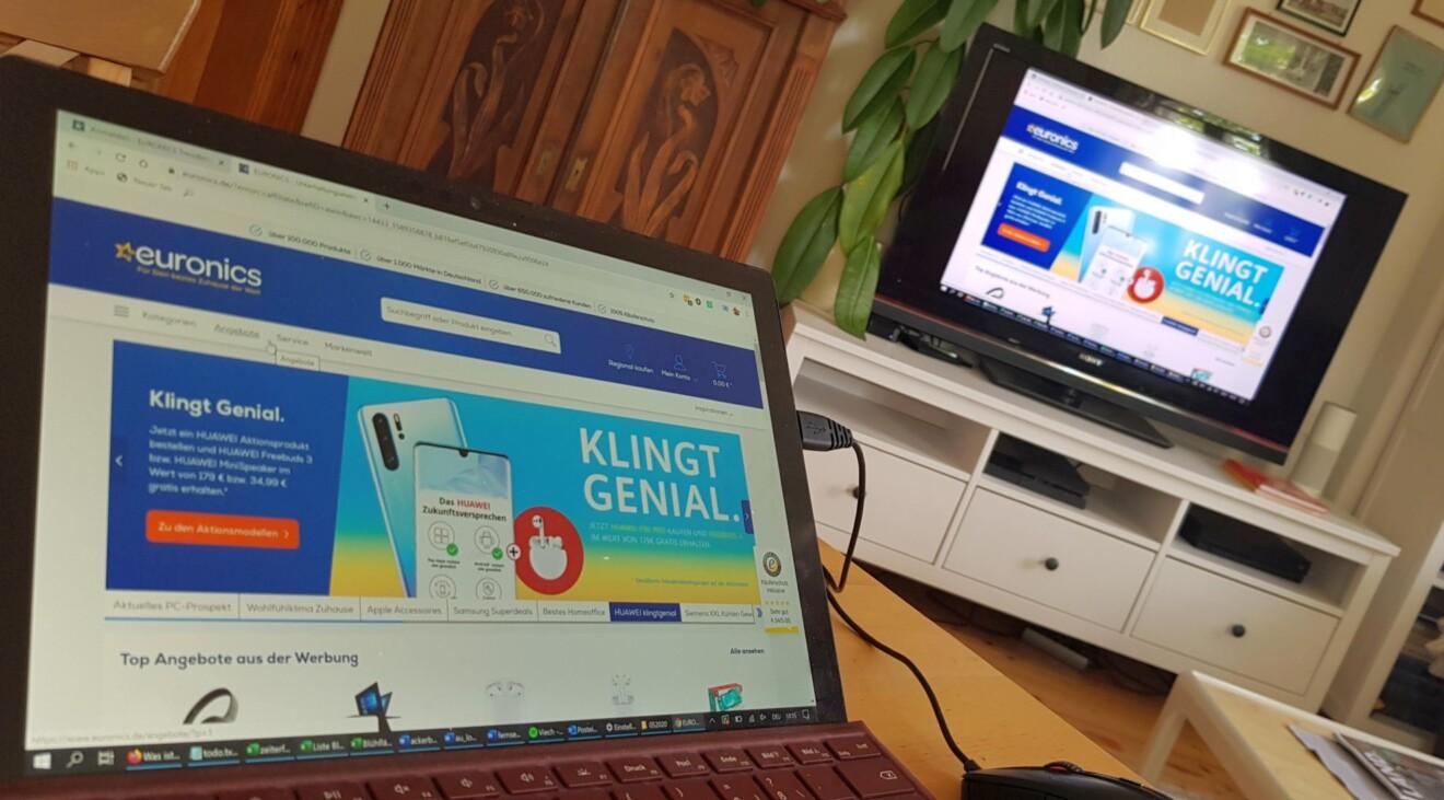 Arbeit und Spiele am TV: So verwendet ihr euren Fernseher als Monitor