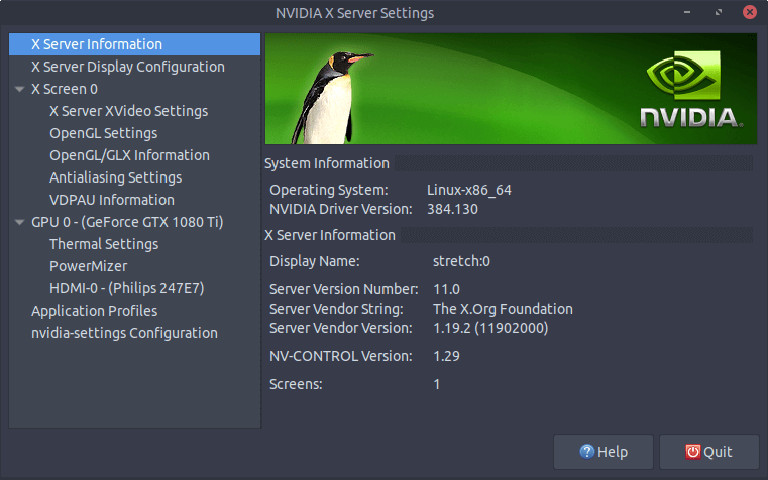 Nvidia-Grafik-Treiber unter Linux