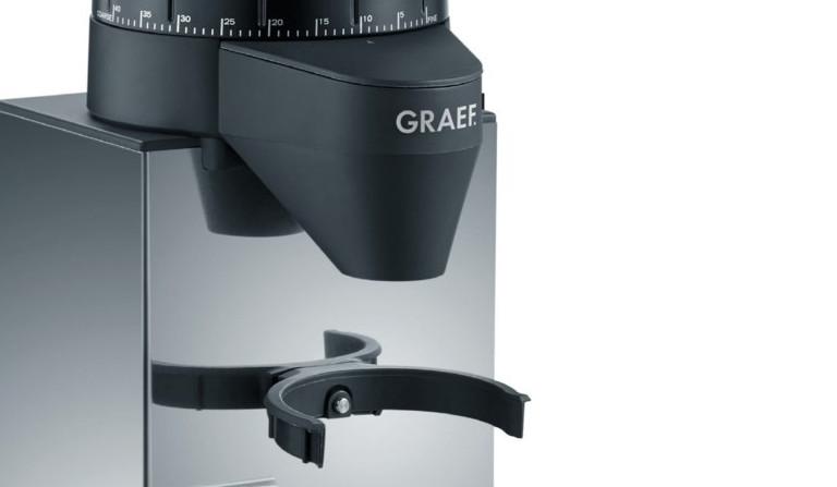Elektrische Kaffeemühle mit Halterung für Siebträger
