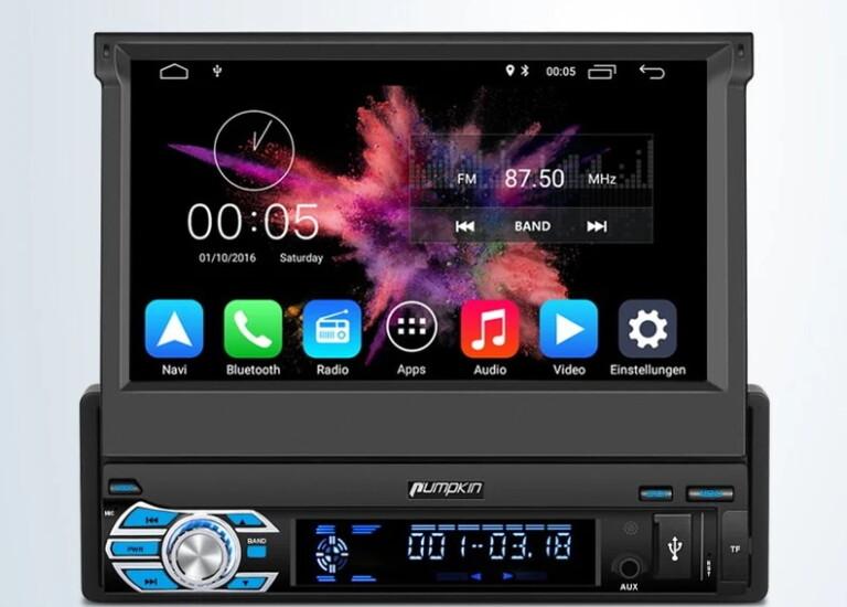 Pumpkin Android 10 Navi Autoradio 1 Din