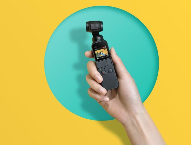 Osmo Pocket ist echt klein. (Foto: DJI)