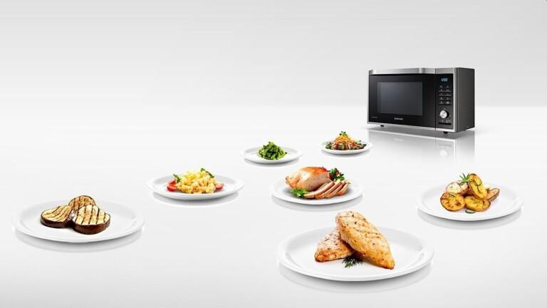 Mikrowellen mit Grill und Heißluft bereichern die Küche ebenfalls. (Foto: Samsung)