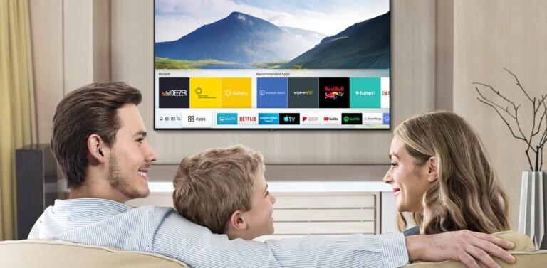 Aktuelle Smart TVs bringen schon passende Apps für nahezu alle relevanten Streaminganbieter mit. (Foto: Samsung)