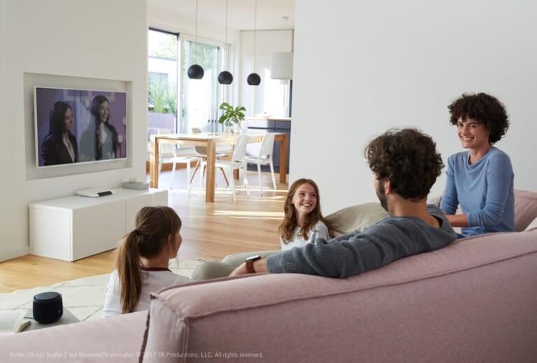 Steuert mit dem Smart Speaker auch MagentaTV. (Foto: Deutsche Telekom)