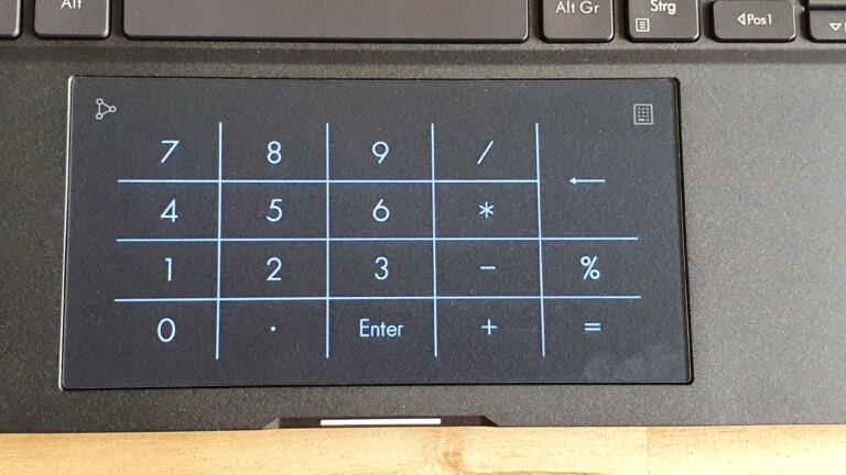 Witzige Spielerei: Der Nummernblock im Touchpad