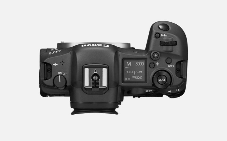 Die Canon EOS R5 von oben