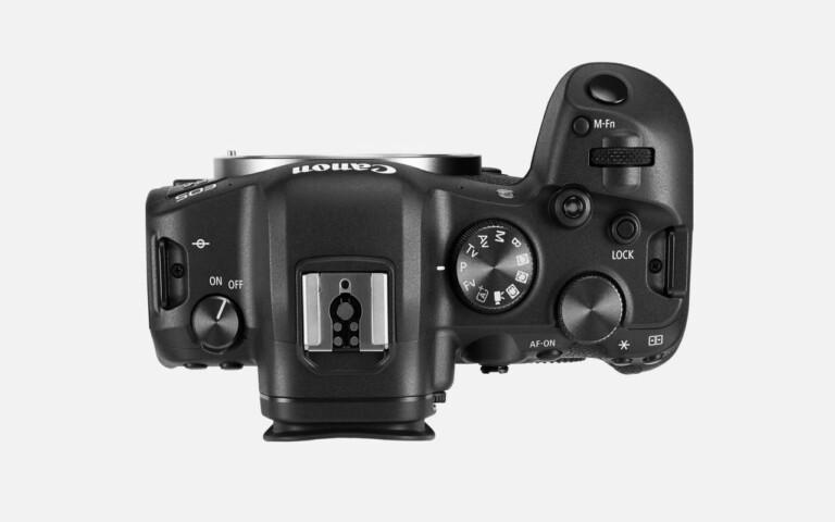 Die Canon EOS R6 von oben