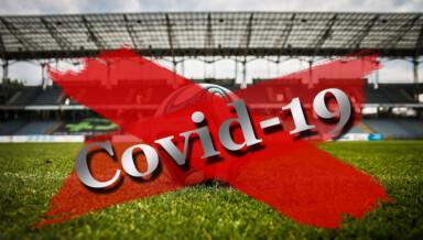 Leeres Fussball-Stadion in Corona-Zeiten