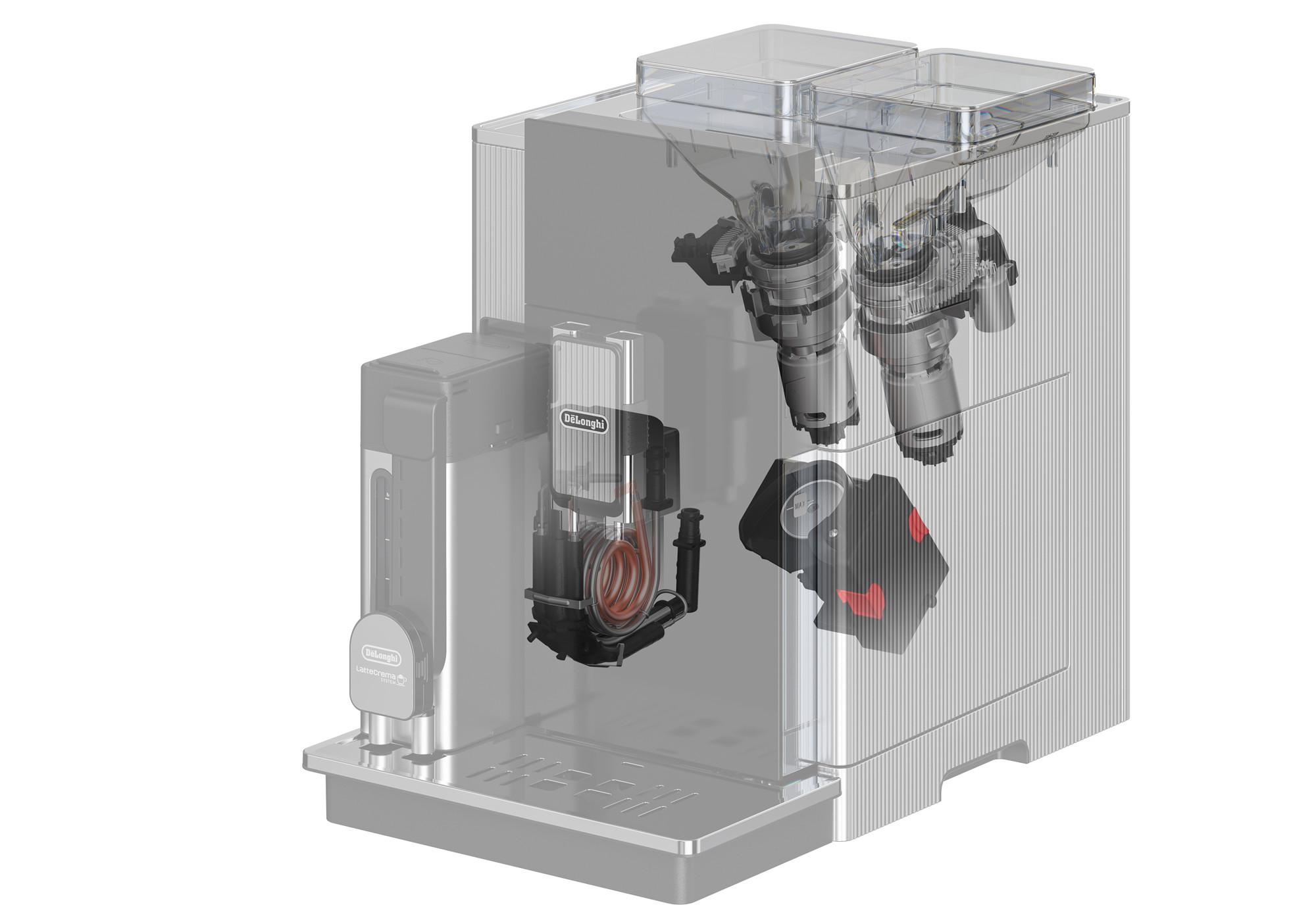 Aufbau eines Kaffeevollautomaten