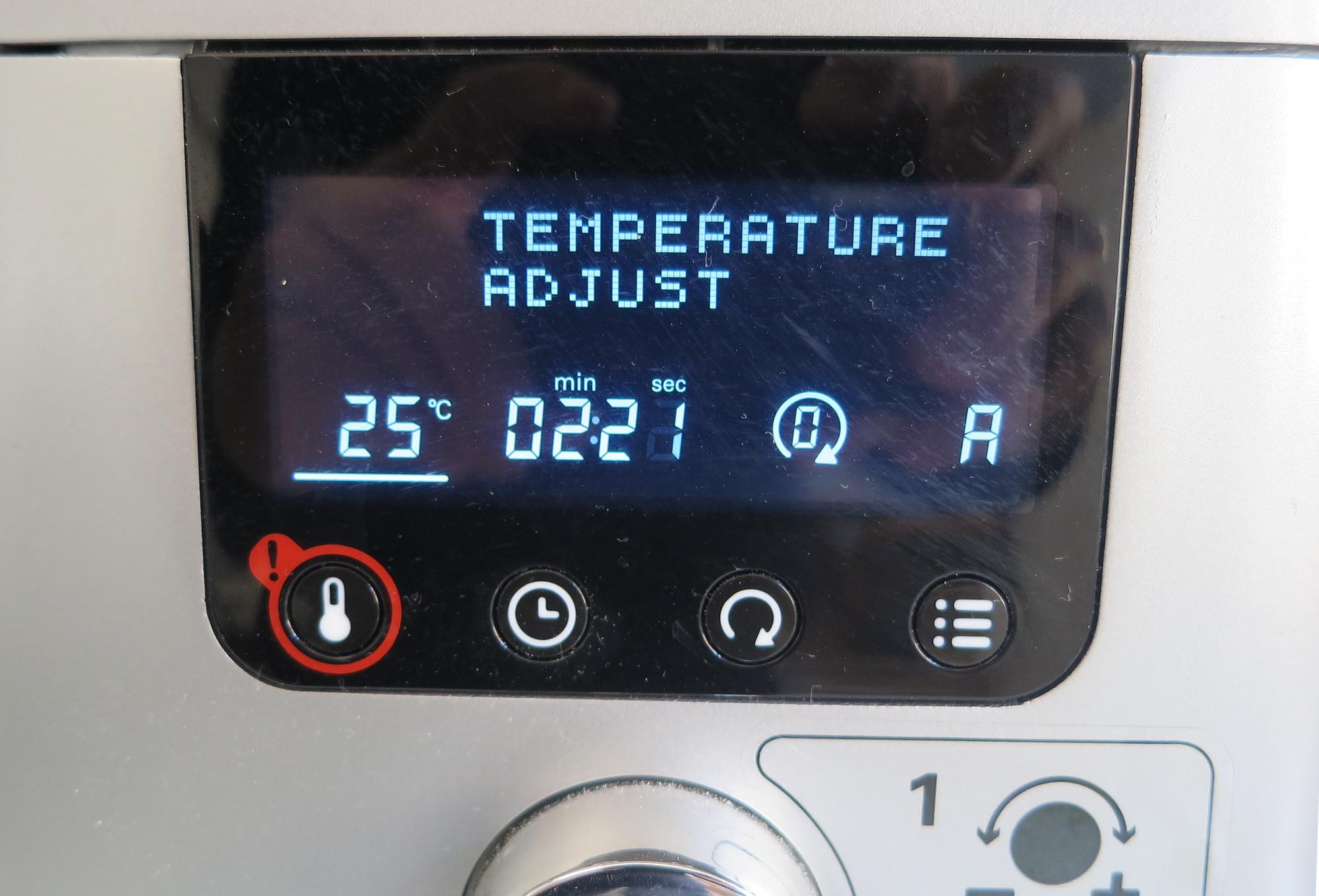Temperaturanzeige der Kenwood Cooking Chef Gourmet