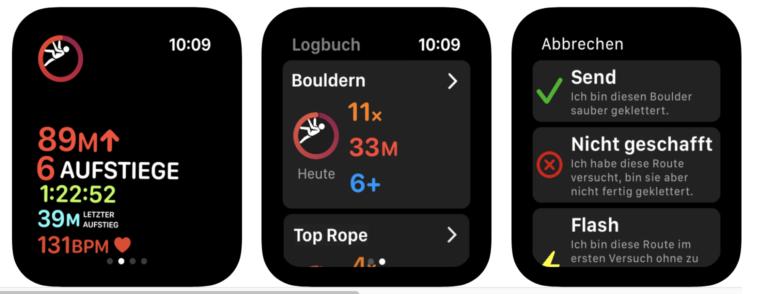 Kletter-App Redpoint