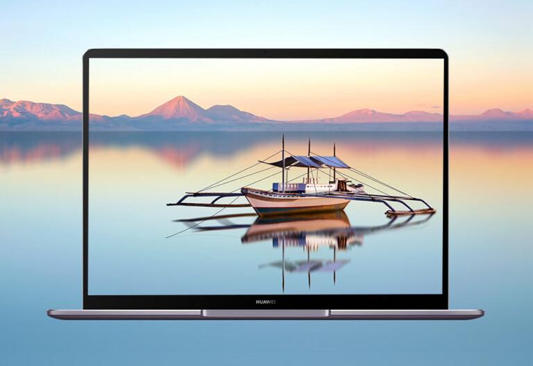 Viel Display auf kleinstem Raum - das Huawei MateBook 13 punktet mit einem hochauflösendem Bildschirm. (Foto: Huawei)
