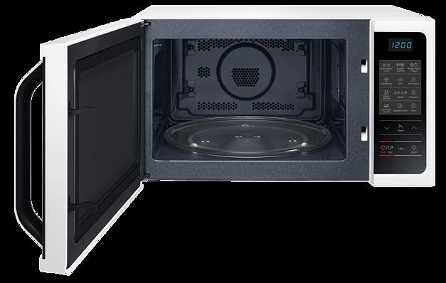 Diese Mikrowelle besitzt zwar einen Drehteller, doch der lässt sich deaktivieren. (Foto: Samsung)