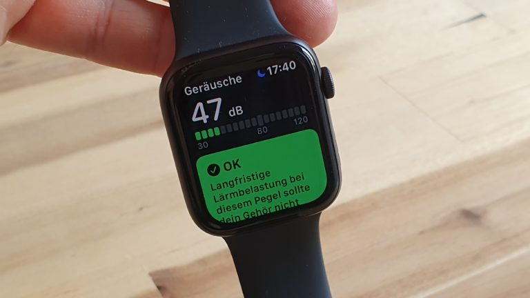 Ein Geräuschmesser auf der Apple Watch: Doch, das hätte ich als kleiner Junge schon cool gefunden.