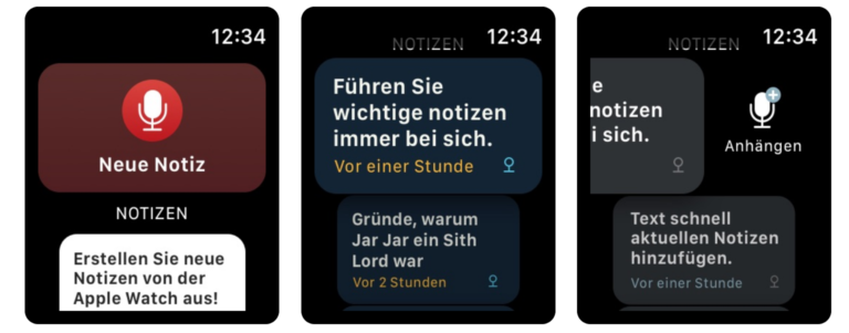 Bear: Notiz-App für die Apple Watch