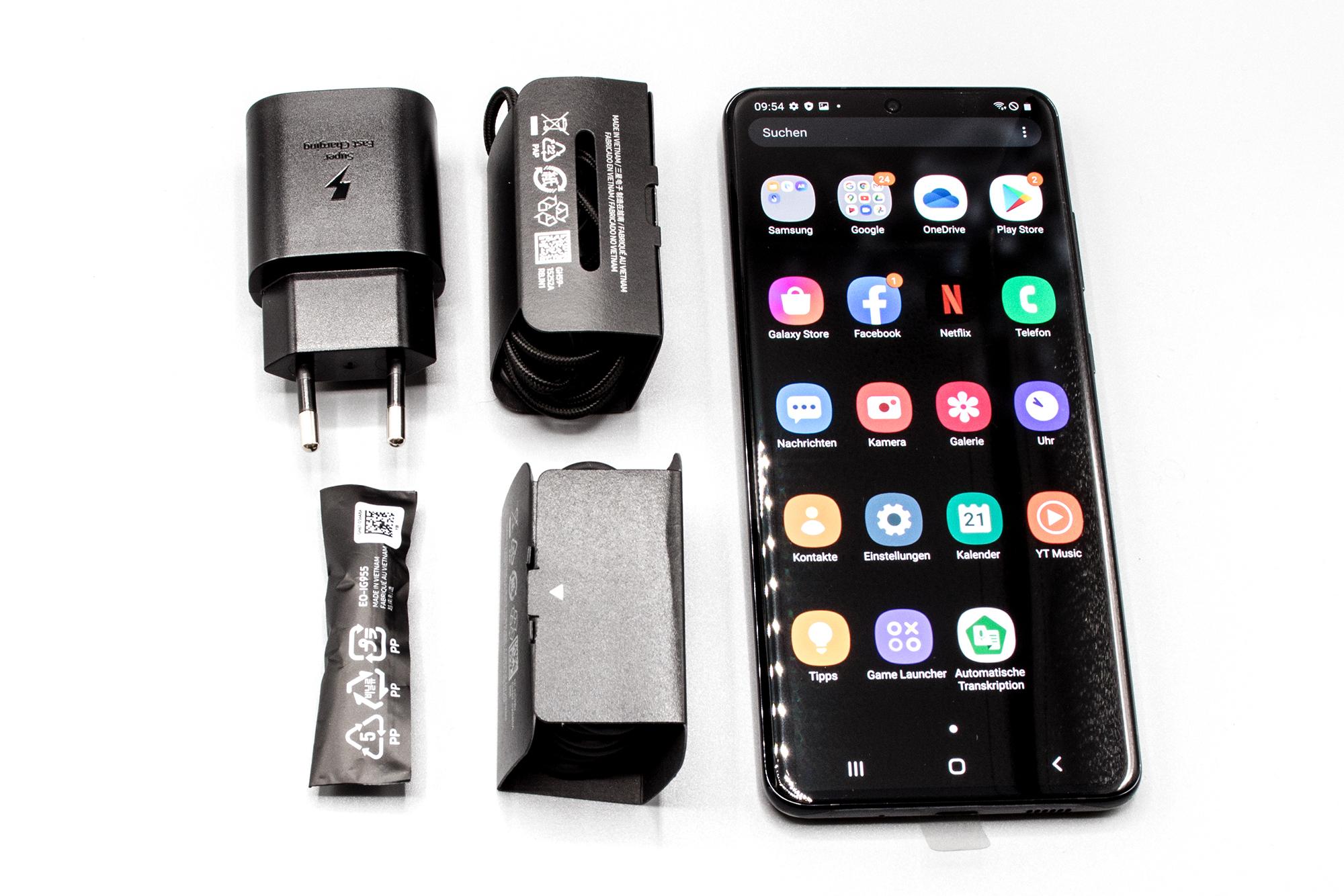 Lieferumfang des Samsung Galaxy S20 Ultra 5G