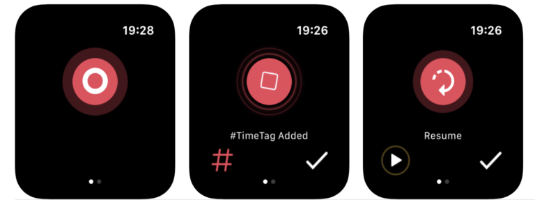 Schlicht und gut: Noted ist eine von vielen Apple-Watch-Apps, um Audionotizen festzuhalten.