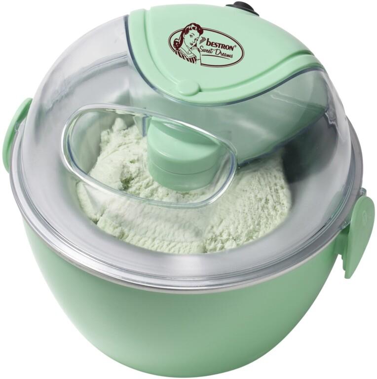 Eismaschinen wie diese kosten um die 30 Euro, bieten allerdings keinen Kompressor. (Foto: Bestron)