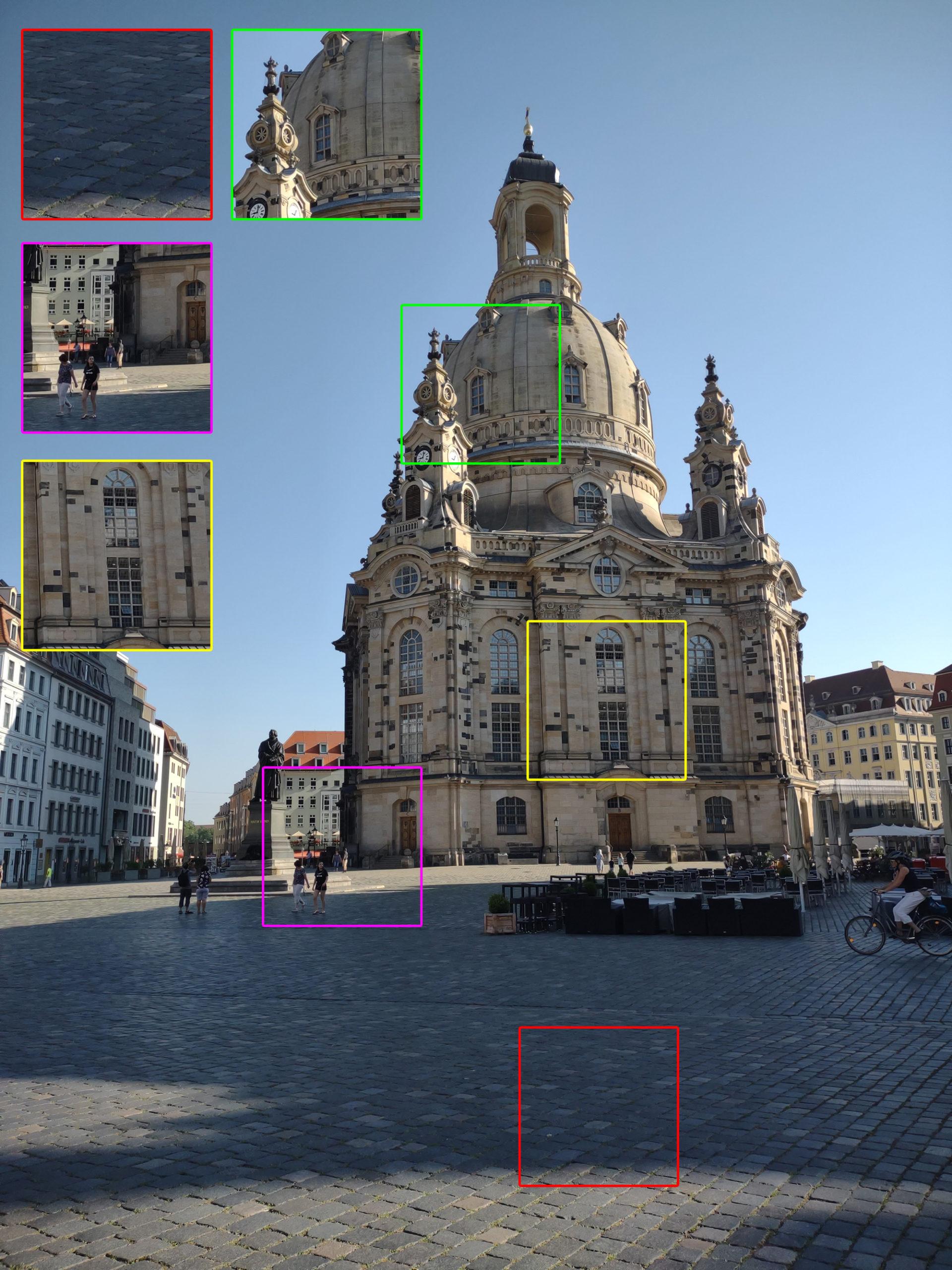 Dresdner Frauenkirche mit dem Motorola Moto G 5G Plus geschossen