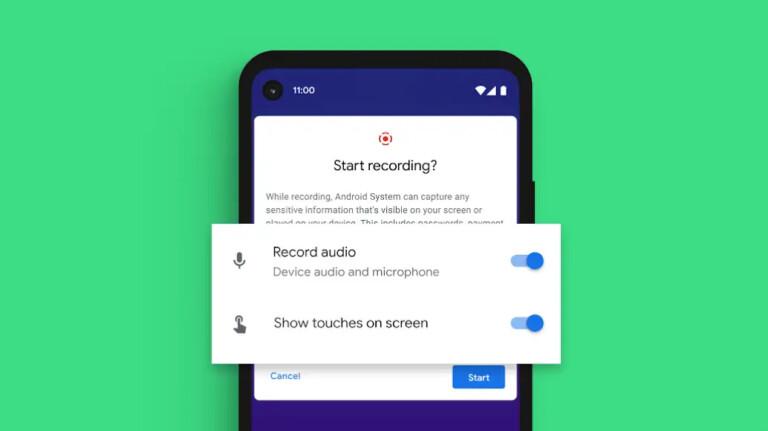 Screen Recording ist unter Android 11 jetzt mir Bordmitteln möglich.