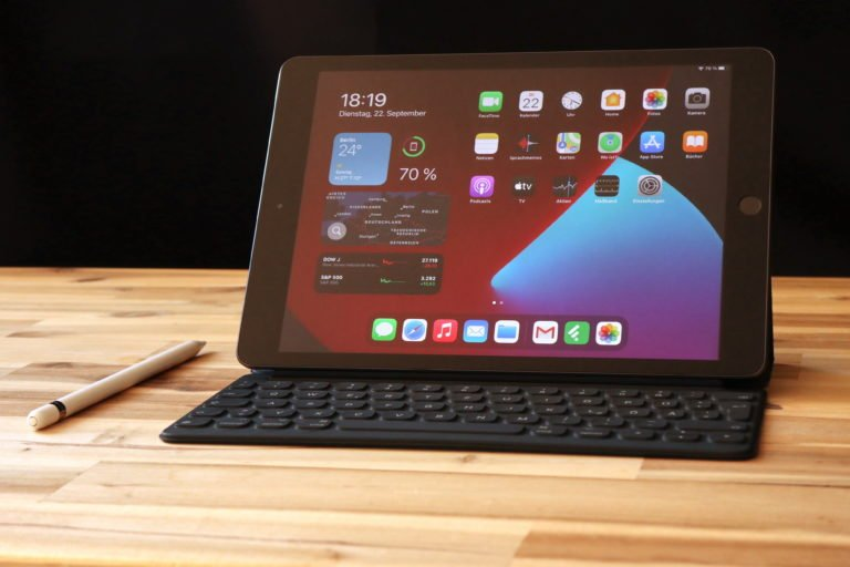 Funktioniert auch als Notebook: das iPad 8