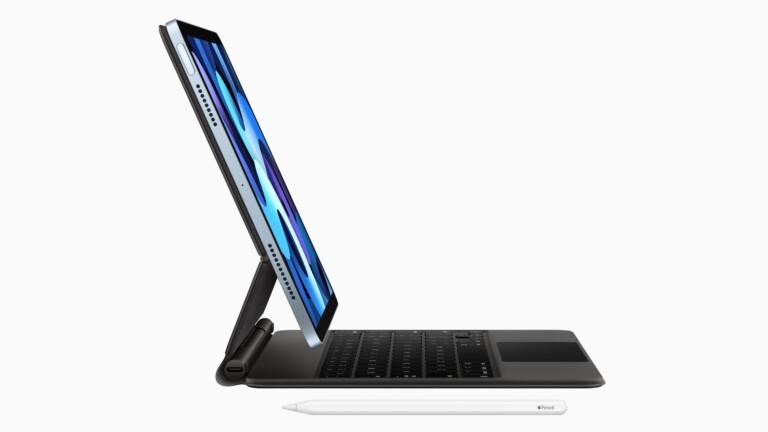 Das iPad Air der 4. Generation ist kompatibel mit dem Magic Keyboard und wird damit wahlweise zum Notebook.