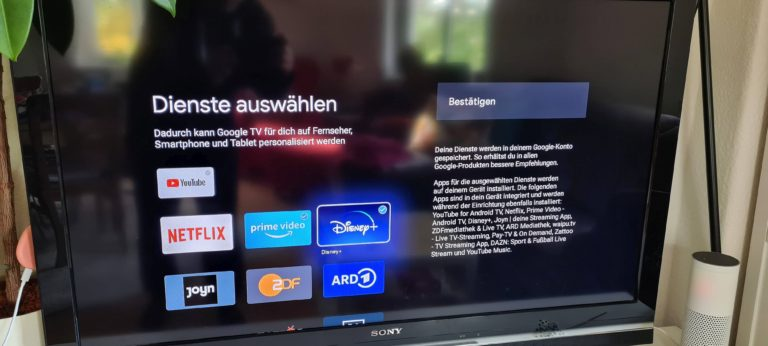 Schon während der Einrichtung könnt ihr gewünschte Streamingdienste auswählen. (Foto: Sven Wernicke)
