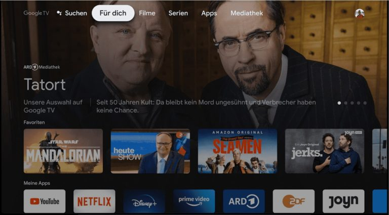 Positiv fällt die schöne, selbsterklärende Oberfläche von Google TV auf. (Foto: Sven Wernicke)