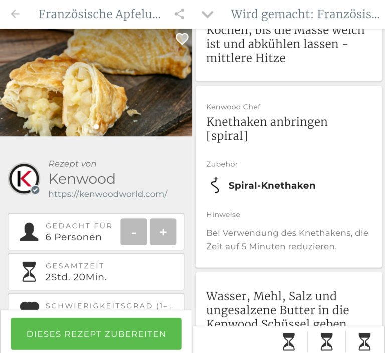Screenshots der Kennwood World App