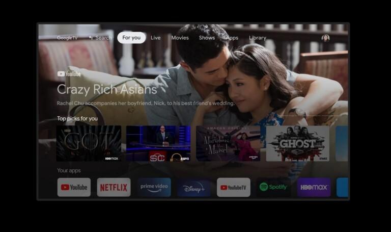 Die Oberfläche von Google TV unterscheidet sich von dem bisherigen Android TV im Funktionsumfang. (Foto: Google)