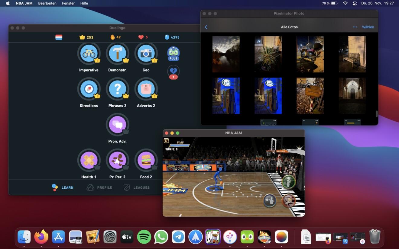 iPad-Apps auf einem Mac