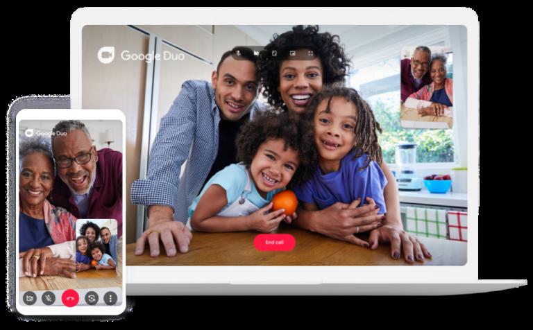 Ein echter Vorteil: Google Duo funktioniert auch auf exotischeren Plattformen wie Android TV oder KaiOS. (Foto: Google)