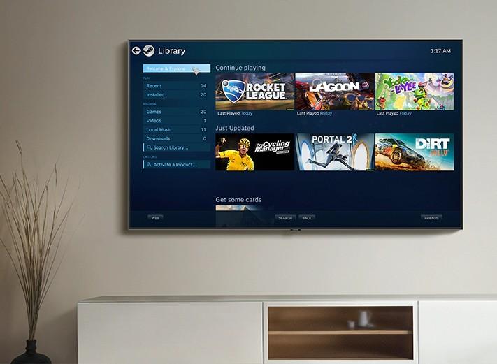 Steam Link bringt PC-Spiele auf den Fernseher. So verwendet ihr den Smart TV als Spielkonsole. (Foto: Samsung)