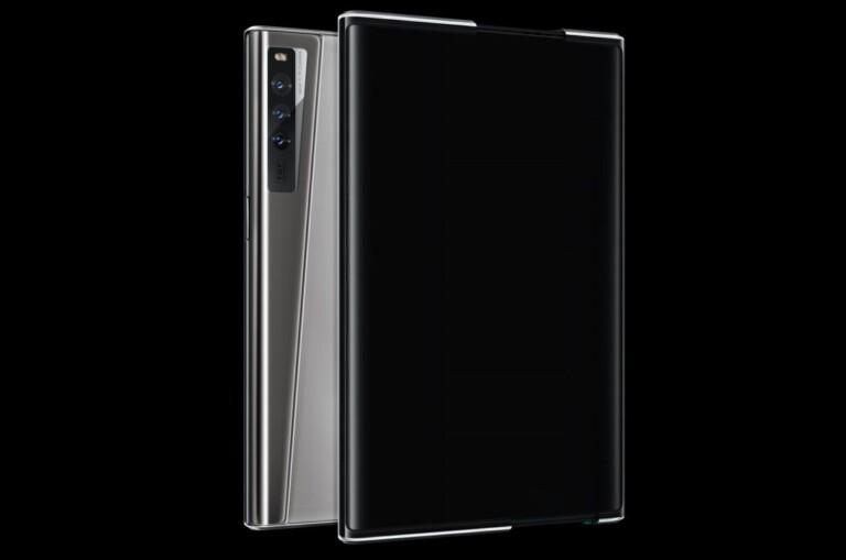 Keine Umbrüche oder Scharniere - Smartphones mit Roll-Display könnten besser als Falt-Smartphones sein. (Foto: Oppo)