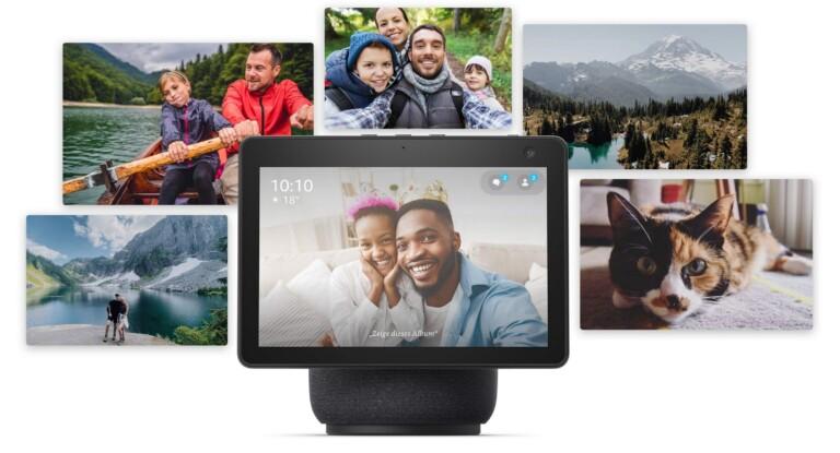 Den Amazon Echo Show als smarten Bilderrahmen verwenden. Bild: Amazon