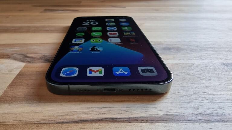 Das iPhone 12 Pro Max vom Galaxy S21 Ultra aus fotografiert