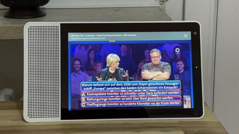 Mit einem Trick gelang es uns auf einem Google Smart Display, den Livestream der ARD einzuschalten.