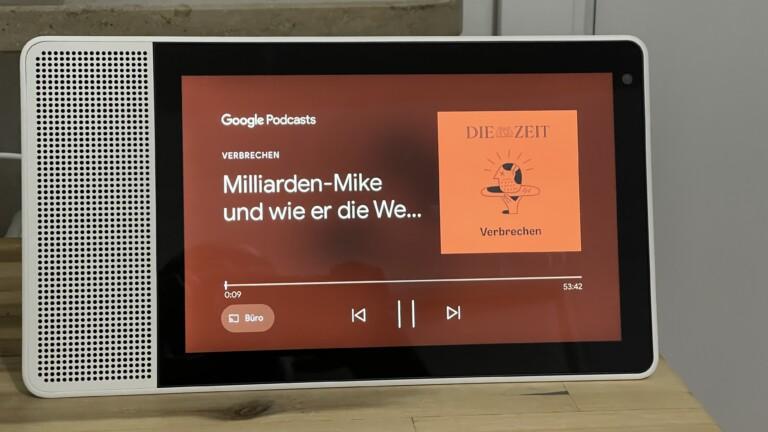 Podcasts und Musik dank Touch viel einfacher steuern als auf Smart Speakern