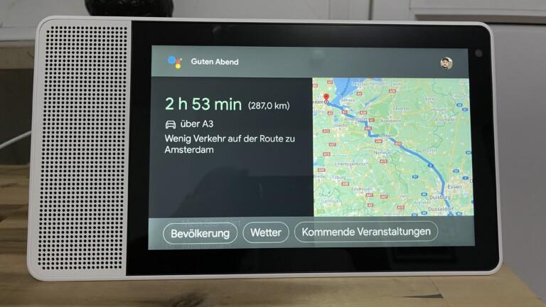 Google Maps im Smart Display