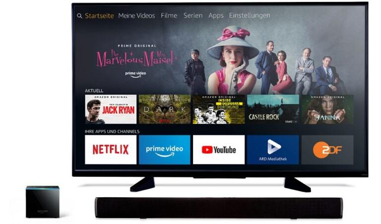 Der Fire TV Cube möchte auch euren Fernseher und eure Soundbar kontrollieren. So ist er subjektiv betrachtet schon der beste Streamingplayer derzeit. (Foto: Amazon)