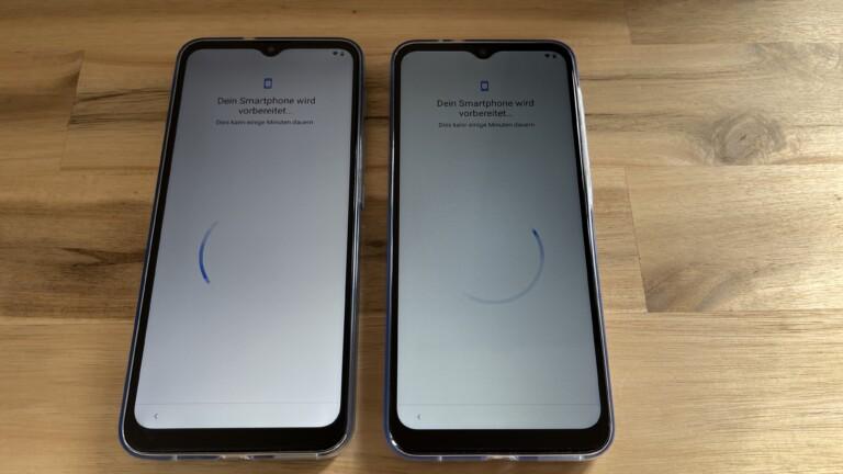 Auffallend viel Rand, dennoch: eine Display-Abdeckung von 85 Prozent in beiden Smartphones