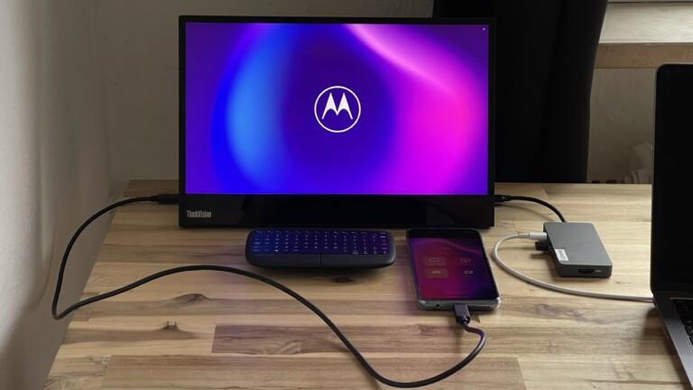 "Motorola ""Ready For""-PC mit Moto G100"